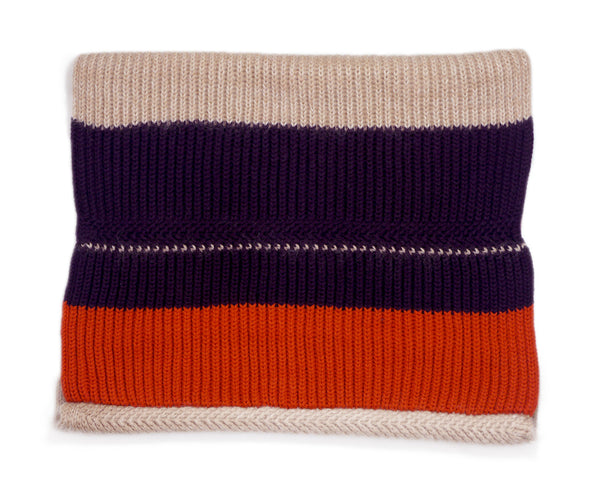 Metropolis snood - rose gold/orange