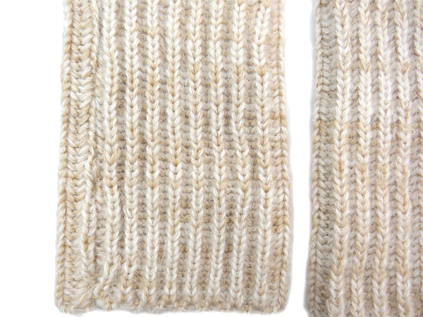 Eleven everything hand made in Britain knitted merino wool wrist warmers