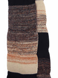 Eleven Everything merino wool chunky rib marl scarf black oatmeal