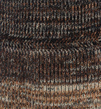 Close up chunky rib knit merino wool scarf Eleven Everything handmade in britain