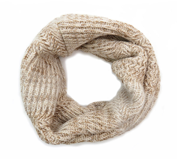 Eleven Everything merino wool chunky knit snood Oatmeal beige