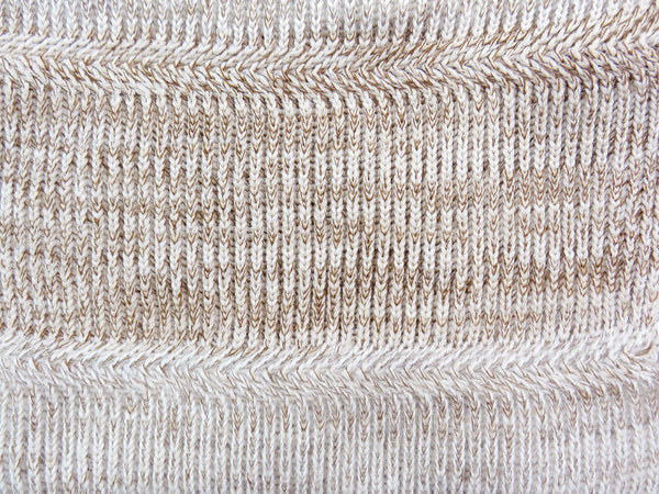 Close up merino wool knitted snood oatmeal
