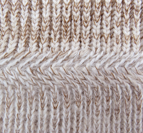 Close up merino wool women's knitted snood