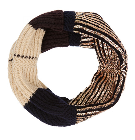 Metropolis scarf loop - rose gold/orange