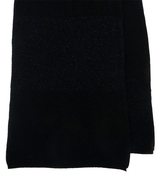 Women's Cashmere and silk scarf in Black with Lurex