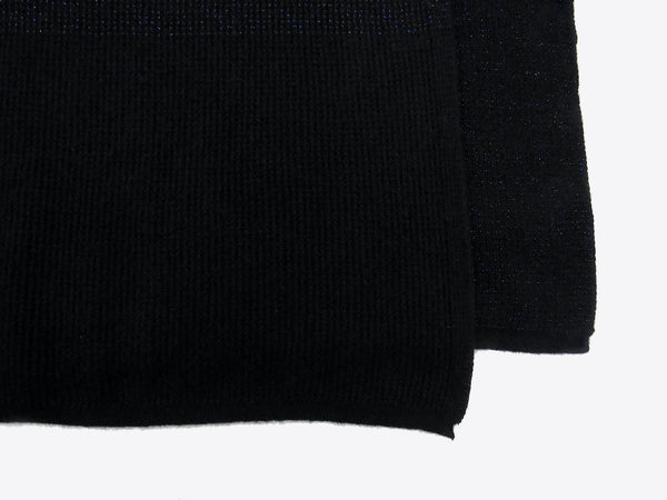 Women's cashmere and silk shawl black