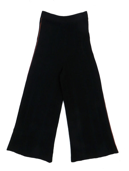 Stella Knitted Merino Wool Trouser | Black