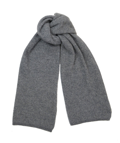 Cashmere and silk women's scarf Grey Silver