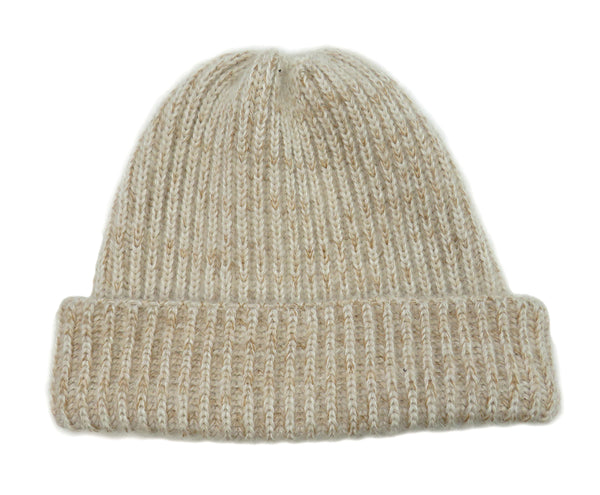 Eleven Everything merino wool beanie hat in Oatmeal