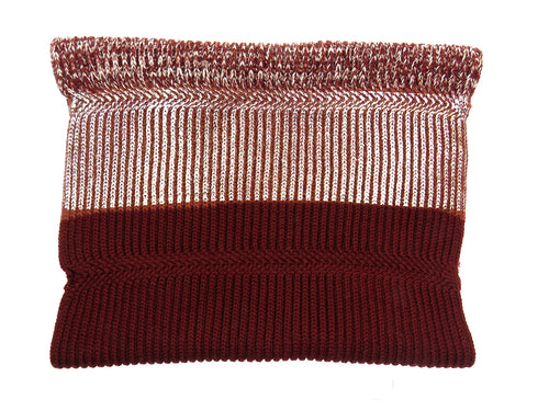 chunky knit merino wool snood maroon rose gold