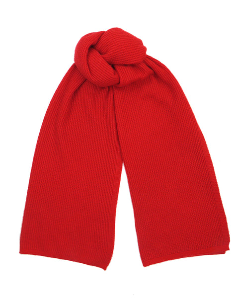 Bright Red Cashmere and silk scarf women's designer accessory
