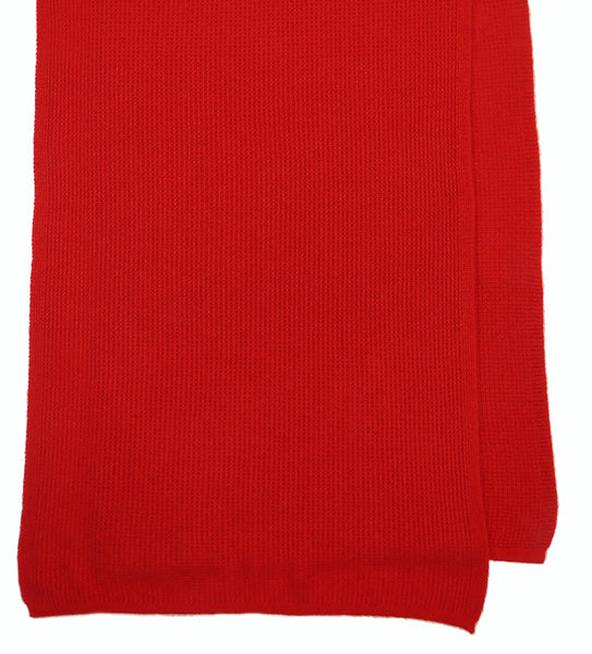 Bright Red women's hand knitted cashmere shawl