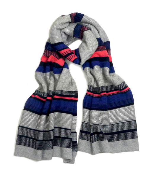Patti scarf - electric blue/silver