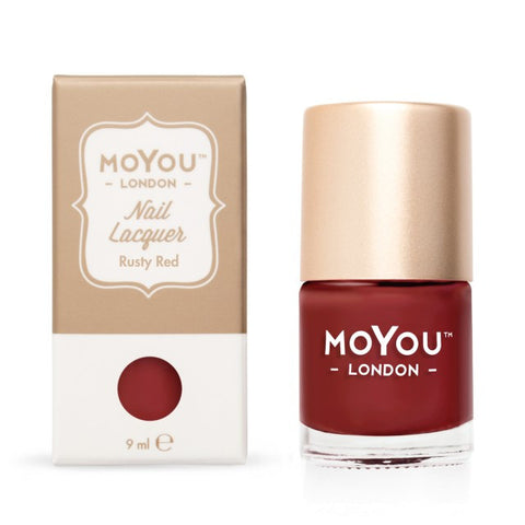 MoYou-London Nail Lacquer: Rusty Red 9ml - CHILL CABINET