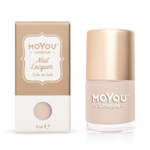 MoYou London Nail Lacquer: Cafe au Lait 9ml - CHILL CABINET