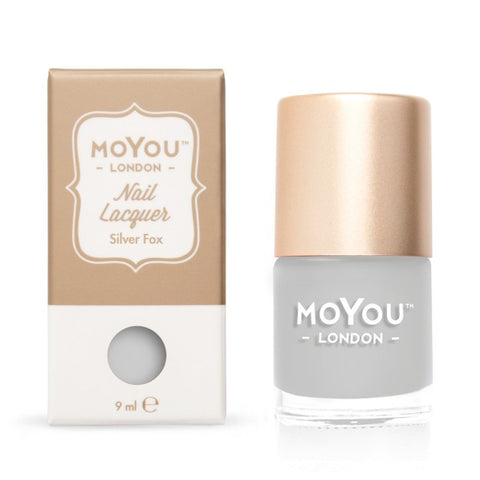 MoYou-London Nail Lacquer: Silver Fox 9ml - CHILL CABINET