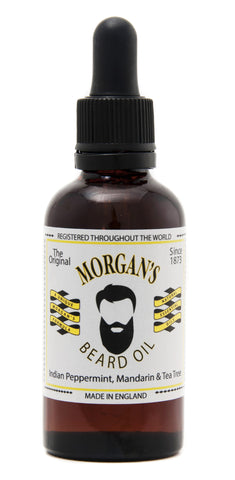 Morgans Beard Oil Morgan's Beard Oil 50ml Glass Bottle A unique blend of 100% natural essential oils to nourish your beard and skin. Mens gift present or Fathers Day Gift