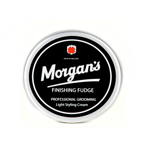 Morgans Finishing Fudge For Mens Hair is a light hold styling cream to add moisture and definition mens hair. Contains natural bees wax. Achieve subtle control
