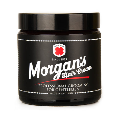 Morgans Gentlemen's Hair Cream is professional quality grooming for men. This easy to use formula that works well on all hair types. Mens grooming mens styling.