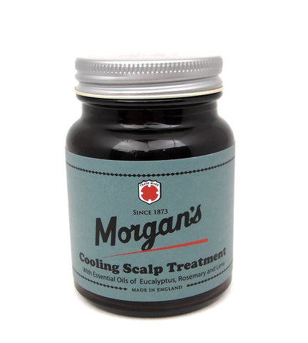 Morgans Cooling Scalp Treatment for men 100ml Amber Jar The ideal treatment to cool and soothe an irritated, dry or itchy scalp. Mens hair treatment. Scalp treatment