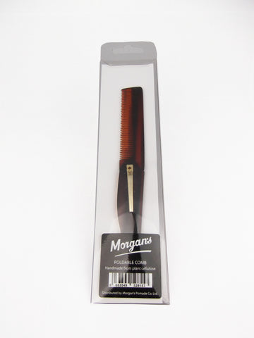 Morgans Folding tortoise shell comb made in Italy from plant cellulose. The perfect pocket companion to keep mens hair neat and tidy. Mens pocket comb Mens gift