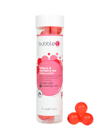 Hibiscus & Acai Berry Tea Melting Oil Pearls (25 x 4g) melting bath oils Bubble T bath products bath oils bath accessories