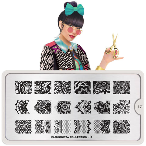 MoYou Plate - Fashionista 17 Stamp Plate - CHILL CABINET