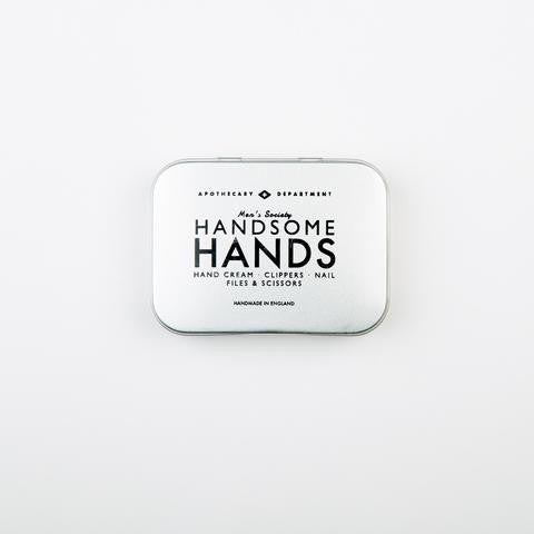 Mens Society Handsome Hands Manicure Kit This wonderful manicure kit contains all the essential products needed to help soften, moisturise and style mens nails and hands. Fathers Day Gift or Mens Gift