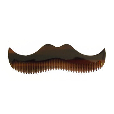 Moustache Comb - Amber - CHILL CABINET