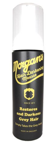 Morgan's Hair Darkening Mousse Morgans Pomade mens haircare mens grooming grey hair mousse Grey hair colour grey hair care colour grey hair