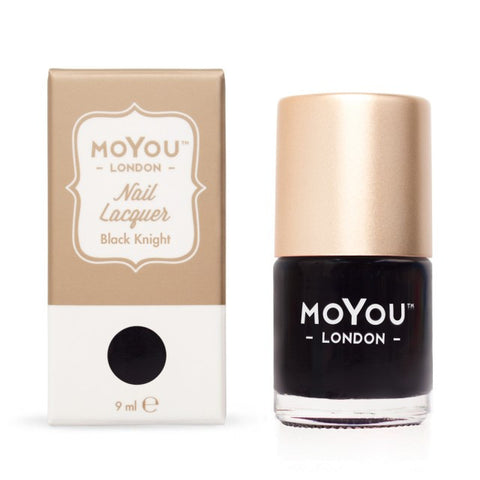 MoYou London Nail Lacquer: Black Knight 9ml - CHILL CABINET