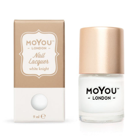 MoYou-London Nail Lacquer: White Knight 9ml - CHILL CABINET