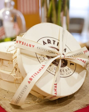French Wooden Gift Box tied with Artisanal Ribbon