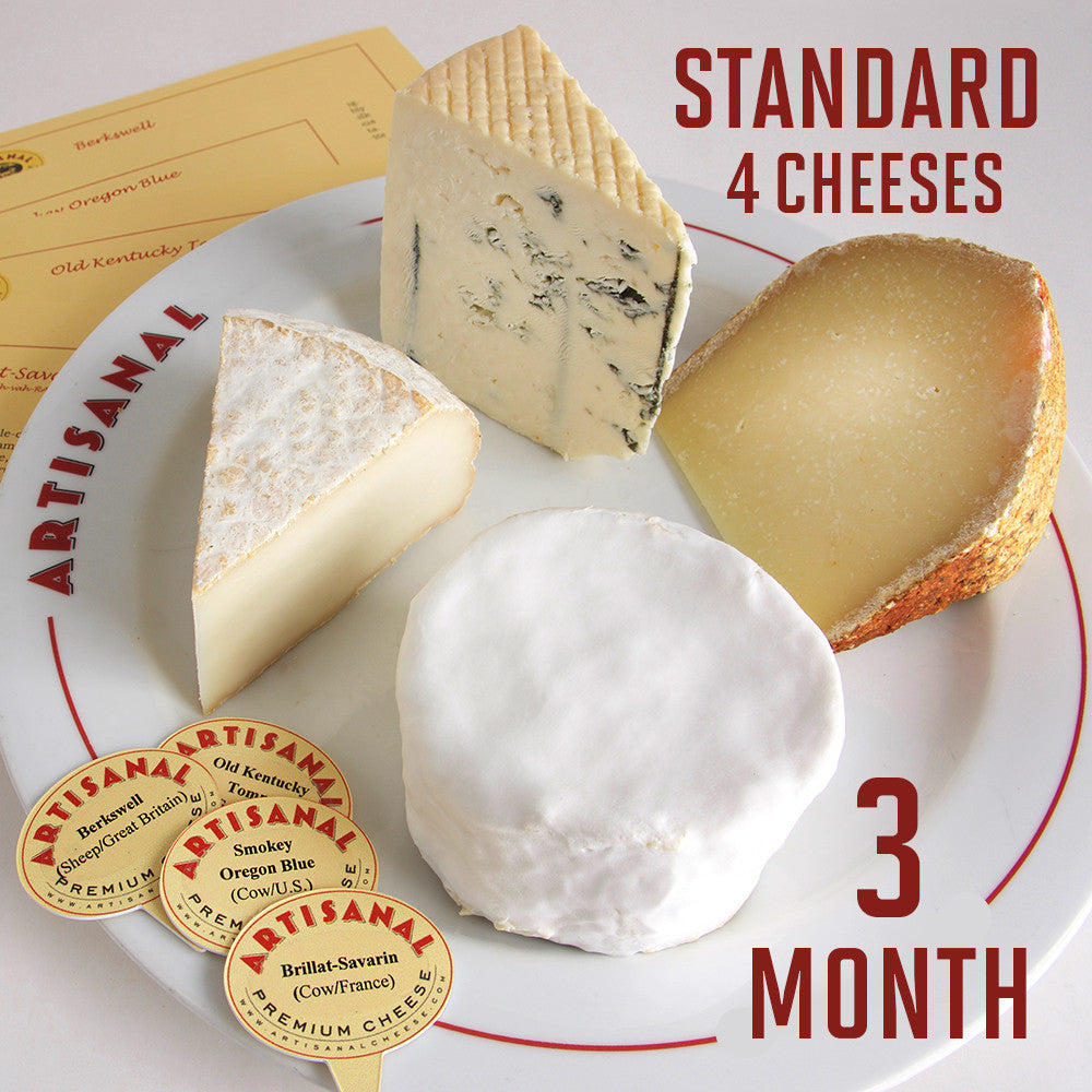 Standard Cheese Club (4 cheeses), 3-Months