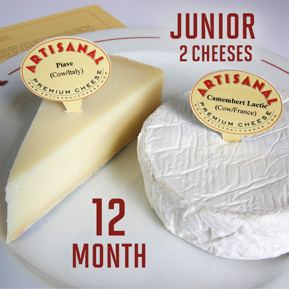 Junior Cheese Club Subscription (2 cheeses), 12 Months