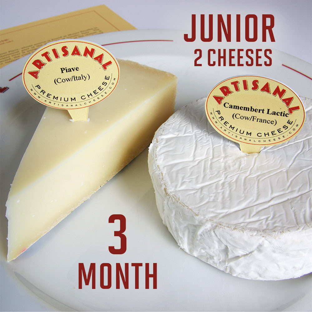 Junior Cheese Club Subscription (2 cheeses), 3 Months