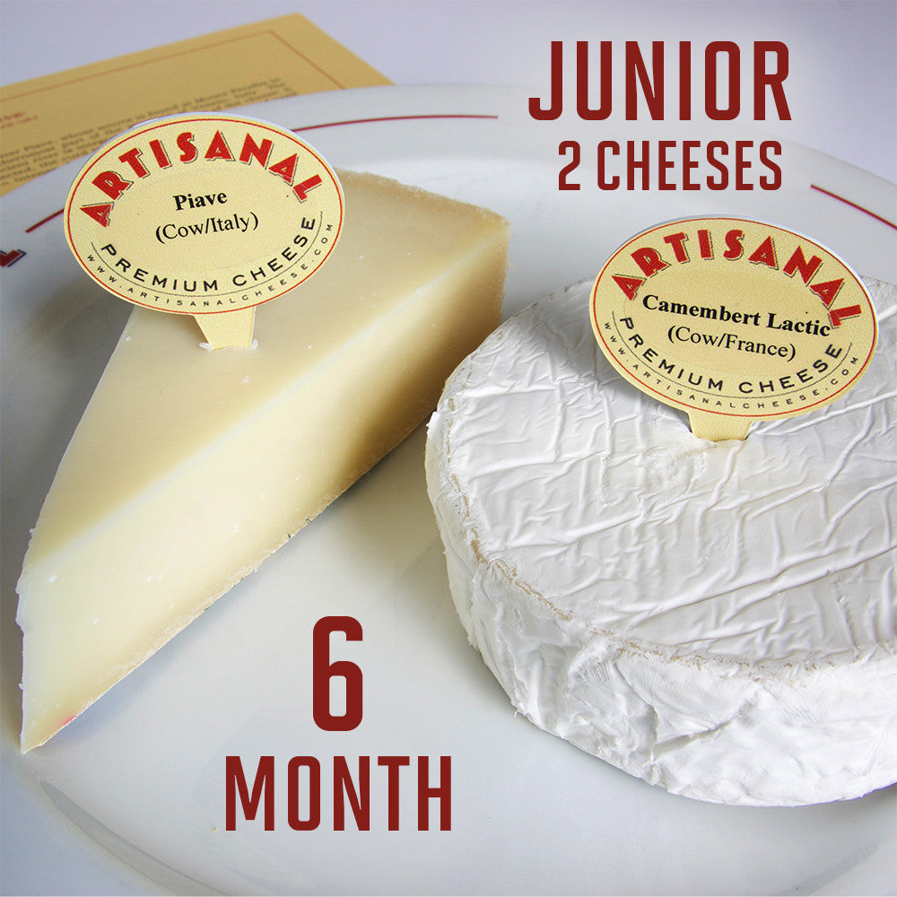Junior Cheese Club Subscription (2 cheeses), 6 Months
