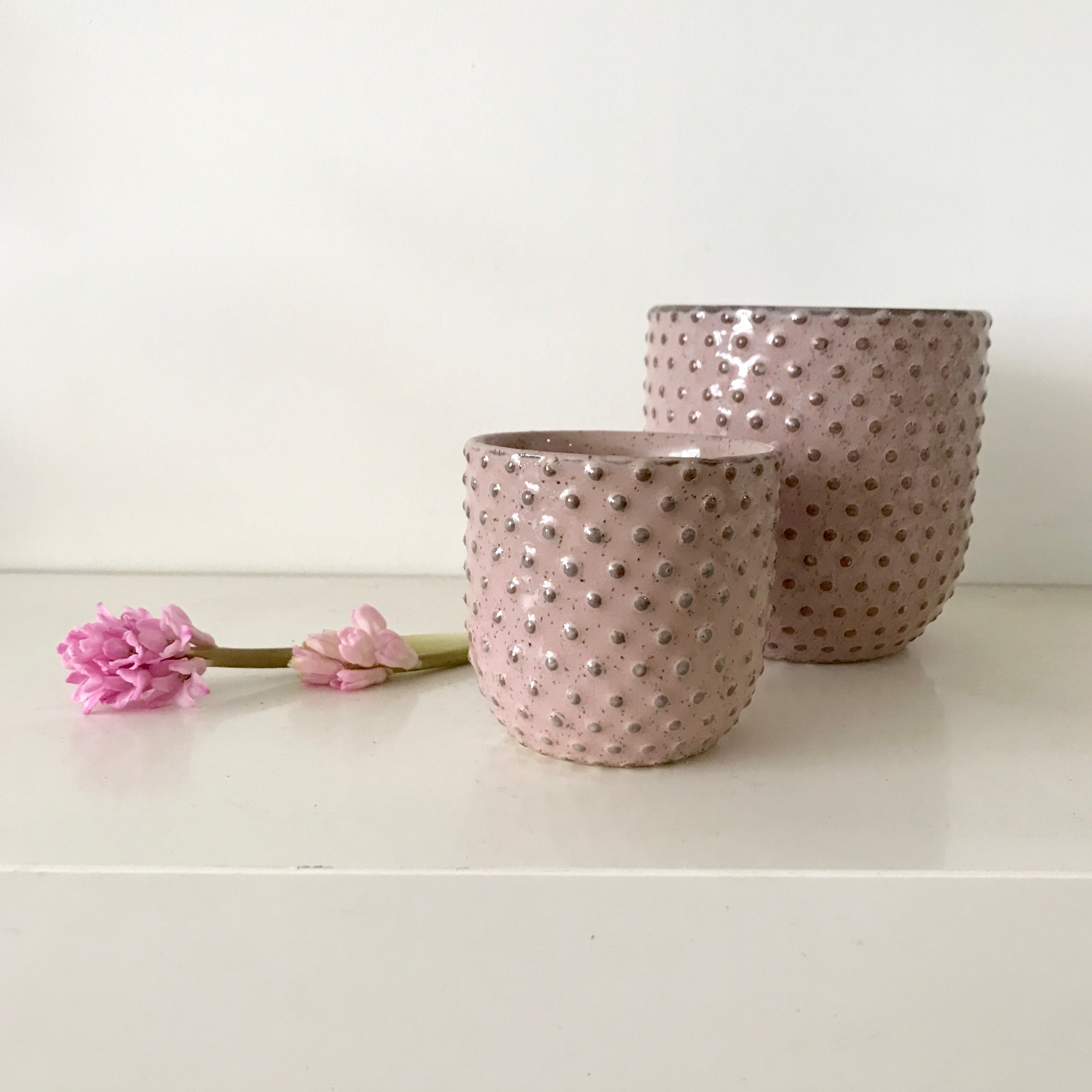 Pink Spotted Pot