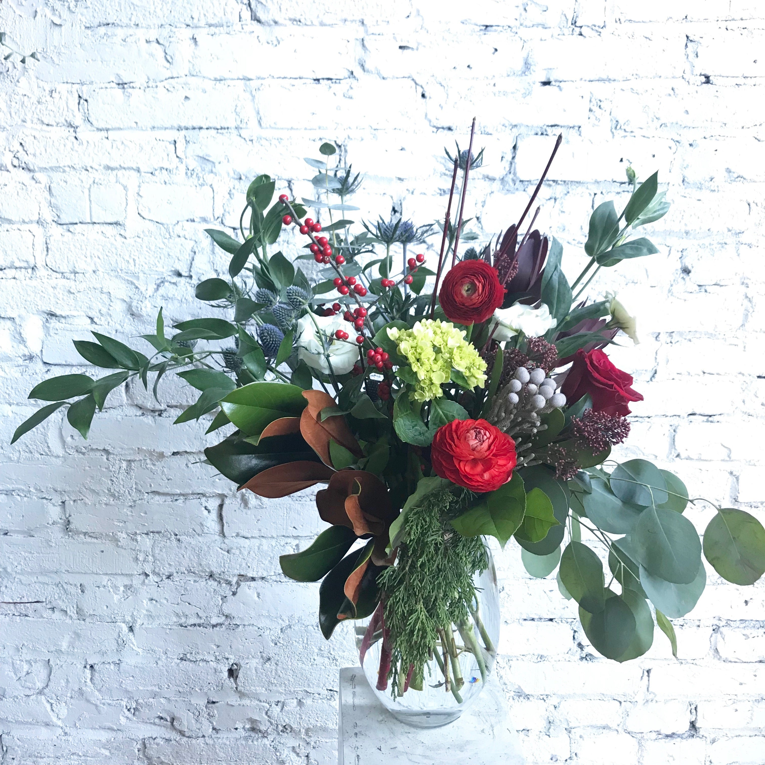 Holiday Arrangement The Flower Shop