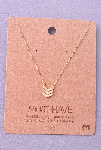 Must Have Collection Chevron Pendant Necklace
