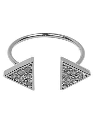 CZ Triangle Cuff Ring (adjustable)