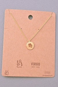 Must Have Collection Virgo Coin Pendant Necklace
