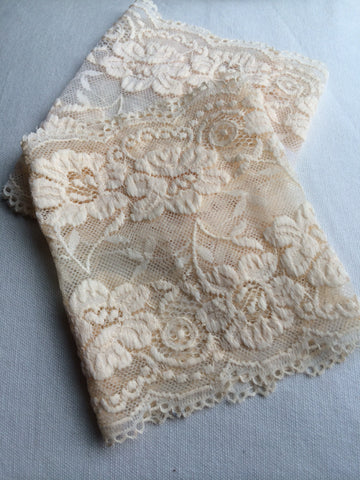 Lace Boot cuffs--Cream