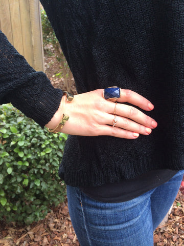 Gorgeous Navy Blue Ring