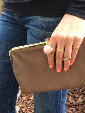 Wallet / Clutch (Bronze Metallic)