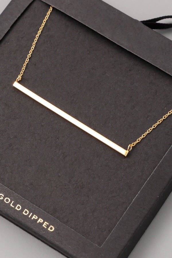 Skinny solid bar necklace