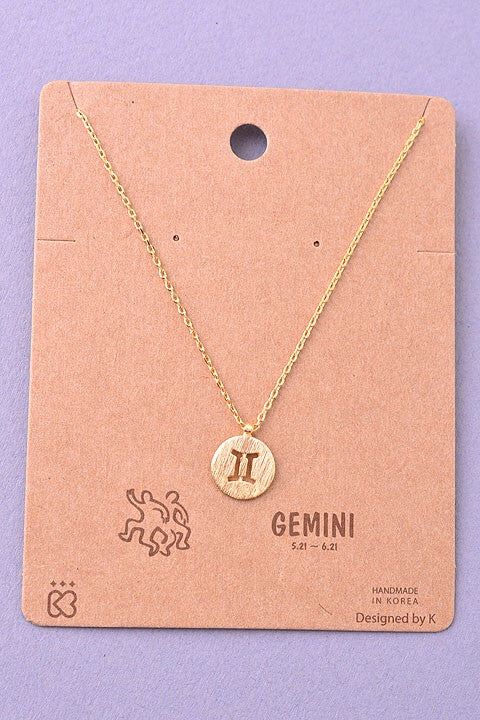 Must Have Gemini Coin Pendant Necklace