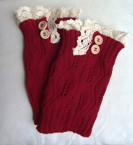Boot cuffs (red)