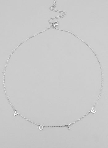 VOTE necklace, silver