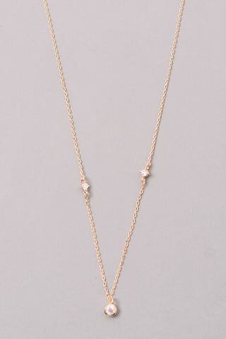 Dainty crystal charm necklace